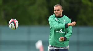 Simon Zebo during his time in Ireland camp. Photo by Matt Browne/Sportsfile
