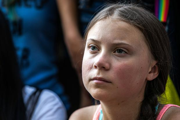 Swedish activist Greta Thunberg participates in a youth climate change protest in front of the United Nations Headquarters in Manhattan, New York City, New York, U.S., August 30, 2019. REUTERS/Jeenah Moon