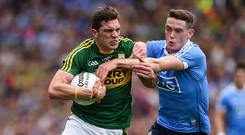 David Moran and Brian Fenton are likely to come head-to-head in the heat of battle in Croke Park. Photo: Sportsfile