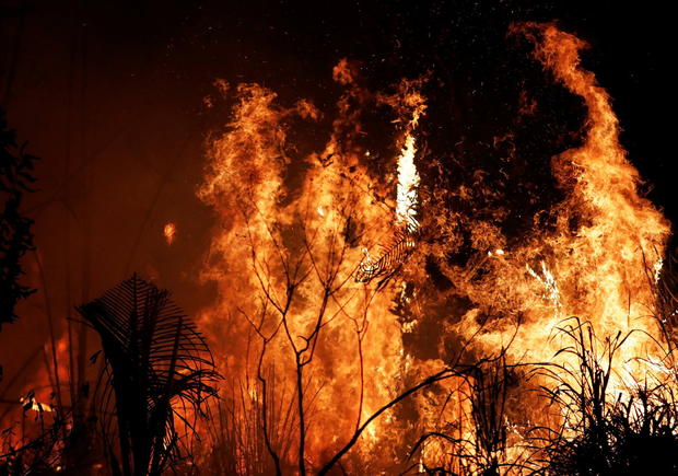 Wildfire: The huge area of fires in the Amazon highlight the differences in political approach between Brazil and the first world. Photo: REUTERS/Nacho Doce