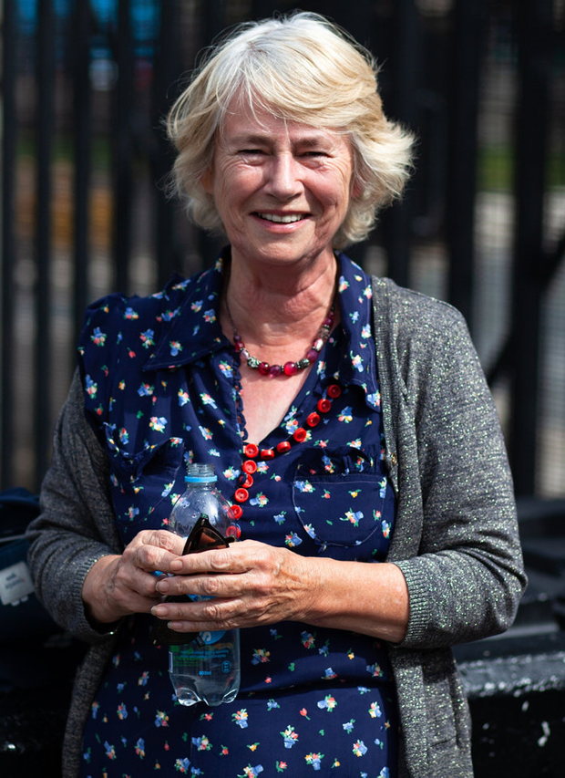 Penny Griffiths, who travelled to London from Devon to protest. Photo: Emma Marshall