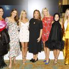 Shelly Corkery, Roz Purcell, Claudine Keane, Caroline Downey, Pippa O'Connor, Andrea Corr and Laura Whitmore at the annual ISPCC Brown Thomas Fashion Show and Luncheon at the Intercontinental Hotel in Ballsbridge.photo Kieran Harnett