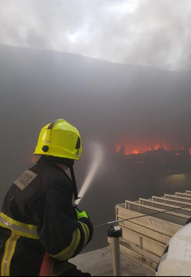 People have been urged to avoid the area Photo: Cork Fire Brigade/Twitter