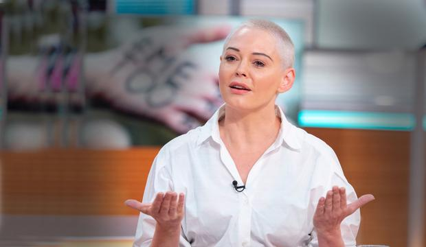 Actress and activist Rose McGowan became one of the most prominent figures of the #MeToo movement, and is one of several women to accuse Weinstein of rape. Photo: Ken McKay/ITV/REX/Shutterstock