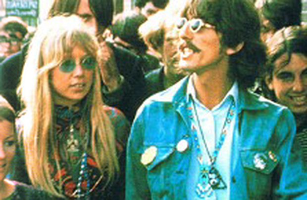 George Harrison and his then wife Patti Boyd visit Haight-Ashbury in 1967