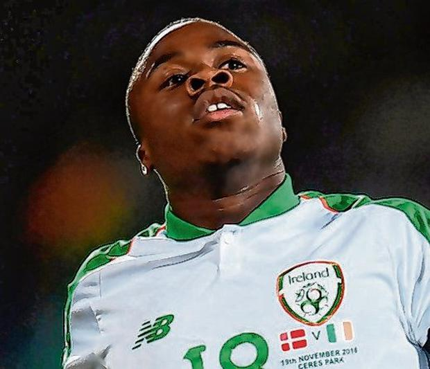 Michael Obafemi (a withdrawal from the squad last night). Photo: Stephen McCarthy/Sportsfile