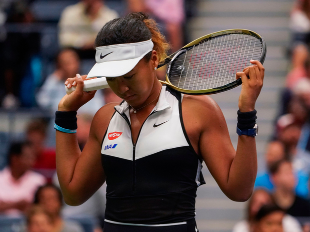 Naomi Osaka of Japan reacts as she plays against Belinda Bencic of Switzerland during their Round Four Women's Singles match at the 2019 US Open at the USTA Billie Jean King National Tennis Center in New York on September 2, 2019. Photo: Getty Images