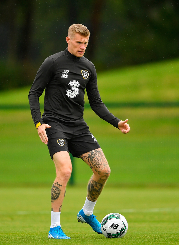 Ireland's James McClean during a training session. Photo: Sportsfile