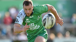 Shane O'Leary in action for Connacht in a pre-season friendly against Grenoble in August 2015. Photo: Matt Browne / SPORTSFILE