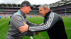 Problem solvers: Dublin manager Jim Gavin (left) and Kerry boss Peter Keane have plenty of tactical conundrums to figure out before Saturday week's All-Ireland SFC final replay. Photo: Seb Daly/Sportsfile