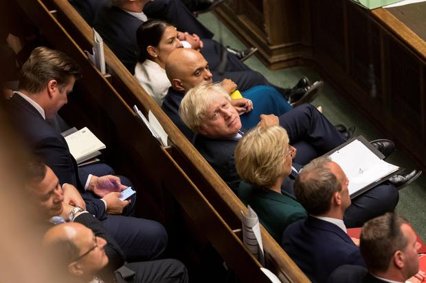 Britain's Prime Minister Boris Johnson looks on at the House of Commons in London, Britain September 3, 2019. ©UK Parliament/Roger Harris/Handout via REUTERS