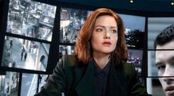 Shaun Emory (Callum Turner) and Rachel Carey (Holliday Grainger) struggle to believe the evidence in front of their eyes in new BBC series The Capture