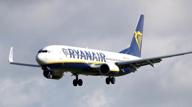 Ryanair said yesterday that in August, 93pc of its flights arrived on time, compared to 89pc in August 2018 (stock photo)