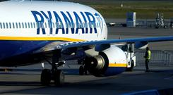 A Ryanair aircraft stands on the tarmac at Frankfurt-Hahn Airport, Germany. Photo: REUTERS/Ralph Orlowski/File Photo