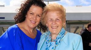 Anna May McHugh and daughter Anna Marie at Ploughing HQ. Photo: Mark Condren
