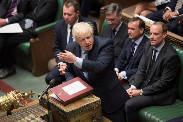 "Mr Johnson insisted he would never ""surrender"" to the EU and demanded an election. Photo: ©UK Parliament/Jessica Taylor/Handout via REUTERS"