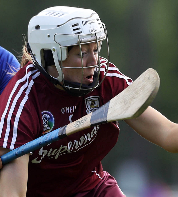 Lisa Casserly in Galway colours. Photo: INPHO