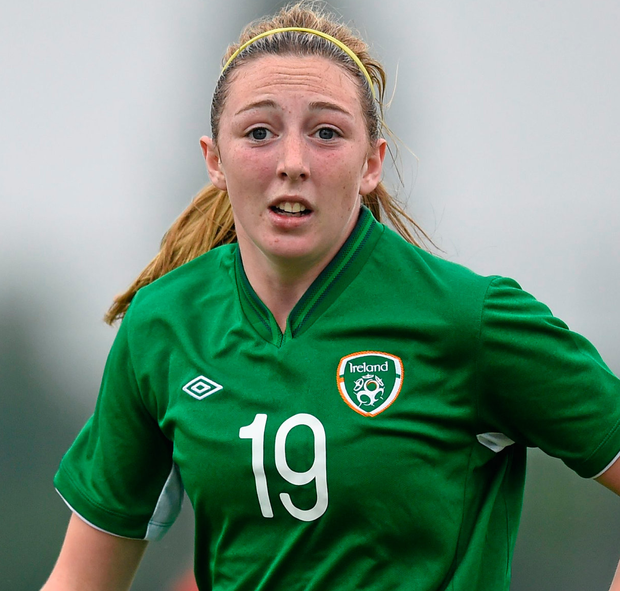 Lisa Casserly in Ireland colours. Photo: Sportsfile