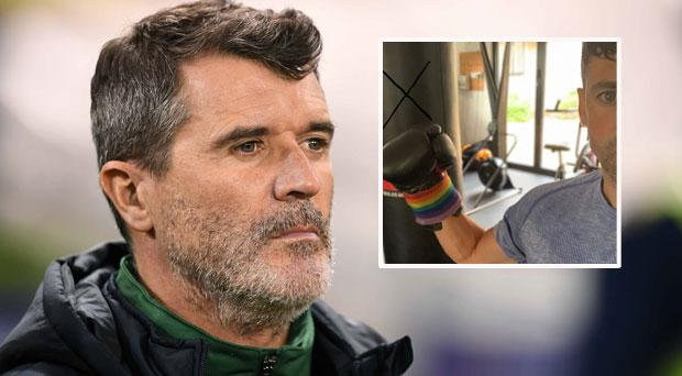 Roy Keane and (inset) Walters took to Twitter