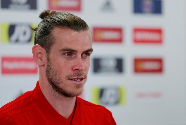 Wales' Gareth Bale is during a press conference at the Cardiff City Stadium. Photo: Reuters/Andrew Couldridge