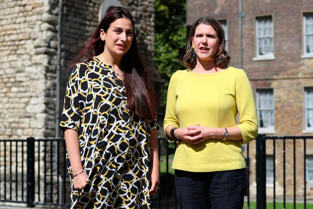 Switch: Former Labour MP Luciana Berger (left) with Liberal Democrat leader Jo Swinson, whose party she has now joined. Photo: PA