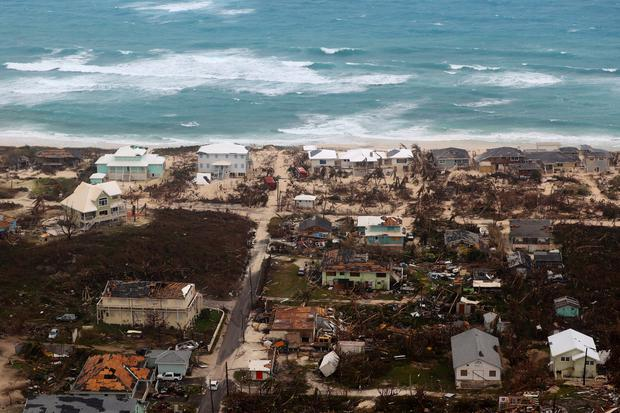 Aerial image of the island Great Abaco, shows the devastation caused by Hurricane Dorian, Bahamas, September 3, 2019. Picture taken September 3, 2019. UK Ministry of Defence/Handout via REUTERS