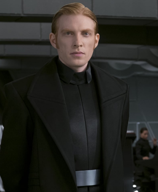 Domhnall Gleeson played General Hux in Star Wars: The Last Jedi