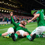 David McGoldrick of Republic of Ireland celebrates with team-mates after scoring his side's goal
