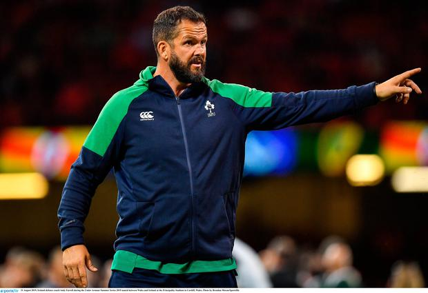 Ireland defence coach Andy Farrell