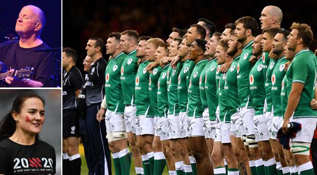 Christy Moore and Kellie Harrington have visited the Ireland rugby team