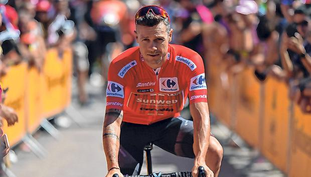Just over a week ago, Nicolas Roche was leader of the Vuelta but fortunes can change quickly in professional cycling. Photo: Getty Images