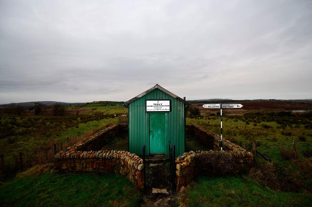 Relic of the divide: An Irish customs post along the Border in Tully. Photo: Charles McQuillan/Getty Images