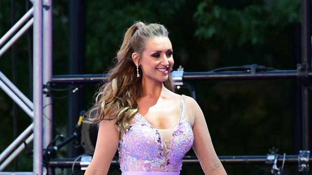 Catherine Tyldesley arriving at the red carpet launch of Strictly Come Dancing 2019 (Ian West/PA)