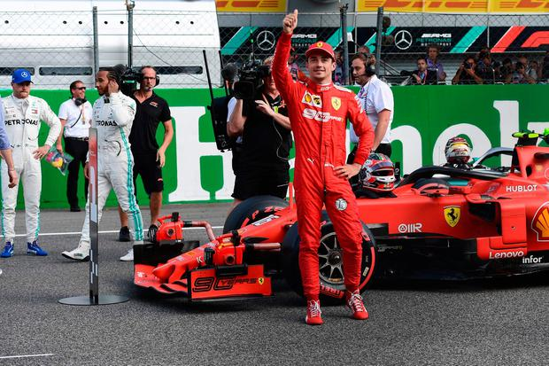 Charles Leclerc delights Monza masses by securing pole for