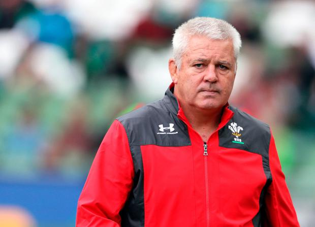 Wales Head Coach Warren Gatland ahead of the Guinness Summer Series match at the Aviva Stadium, Dublin. PA Photo. Picture date: Saturday September 7, 2019. See PA story RUGBYU Ireland. Photo credit: Brian Lawless/PA Wire.