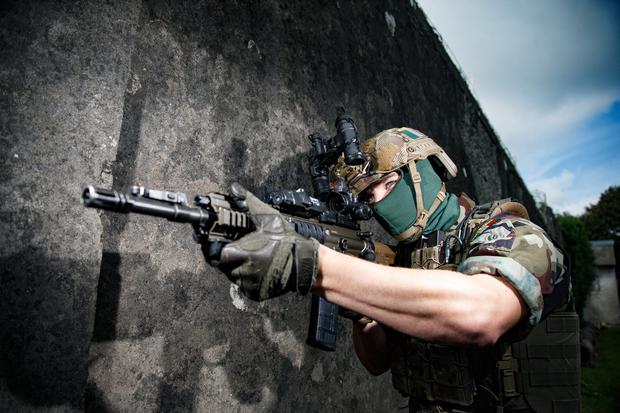 IN YOUR SIGHTS: A member of the Special Operations Force in training. Pic: Mark Condren