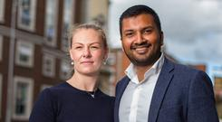 DIAGNOSIS: Dr Rukshan Goonewardena and his wife Dr Emer Byrne at the medical conference in Dublin
