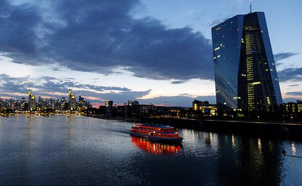 Outlook: The European Central Bank headquarters in Frankfurt, Germany – some think there's a strong case for the ECB to restart quantitative easing (QE). Photo: Alex Kraus/Bloomberg