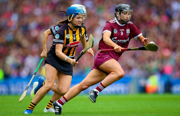 Galway's Niamh Kilkenny produced an incredible individual performance. Photo: INPHO/Tommy Dickson