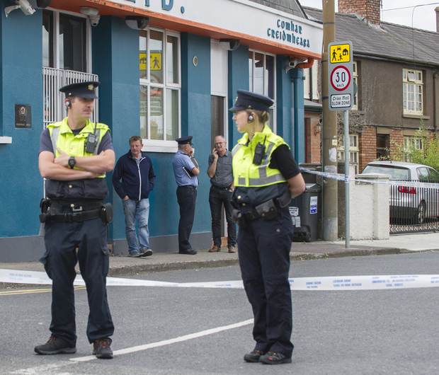 Scene: Gardaí at Bandon Road in Cork city where a man's body was found at the weekend. Photo: Daragh McSweeney/Provision