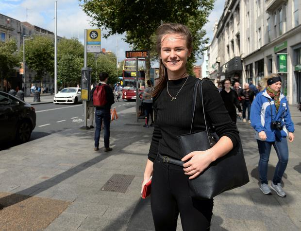 Rachel Denneson, from Rathmines on O'Connell street, Dublin. Picture: Caroline Quinn