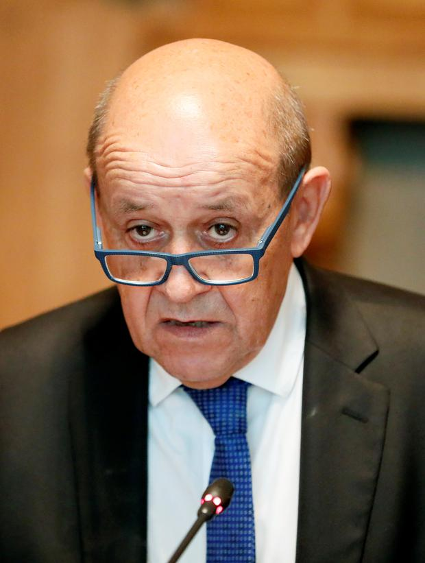 French foreign minister, Jean-Yves Le Drian. Photo: Reuters