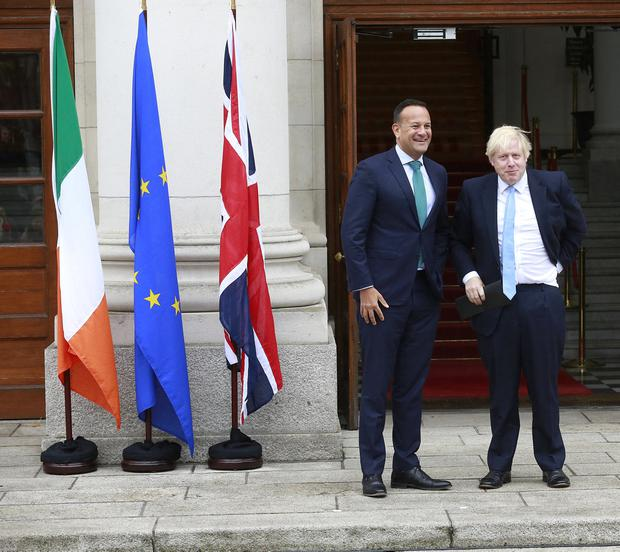 'Nobody was expecting much from this first meeting between the British prime minister and the Taoiseach. After all, if they had, they would have held the Q and A session after the meeting. This was window-dressing, pure and simple'. Photo: Damien Eagers / INM