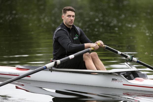 Ian Gaughran trains at Neptune Rowing Club in Islandbridge. Photo: Tony Gavin 14/6/2019