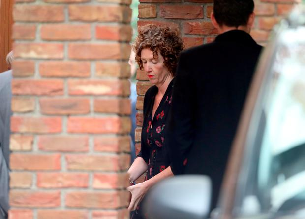 Meabh Quoirin arriving for the funeral mass of her daughter Nora at St Brigid's Church, Belfast. Photo credit should read: Liam McBurney/PA Wire