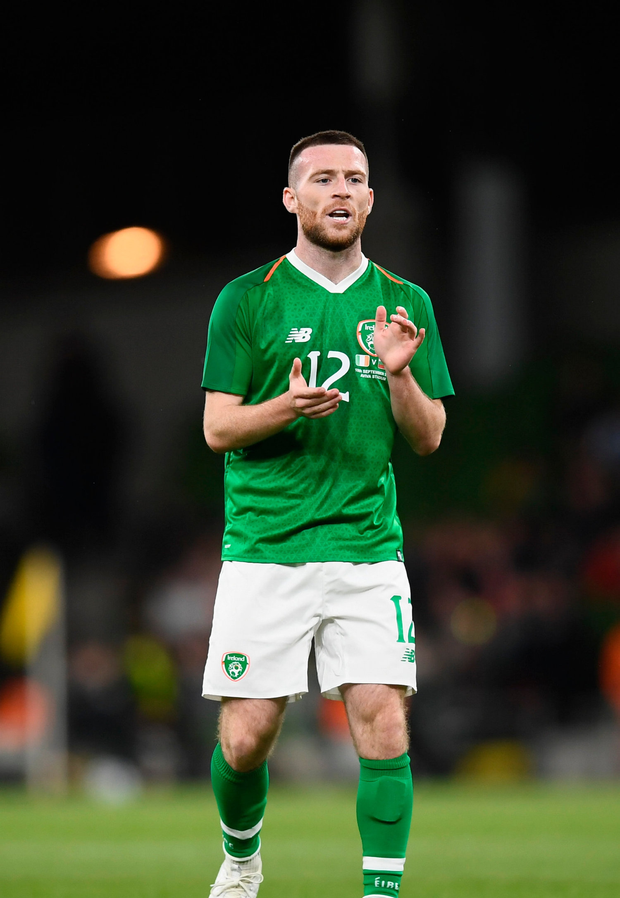 Jack Byrne of Republic of Ireland comes on as a substitute