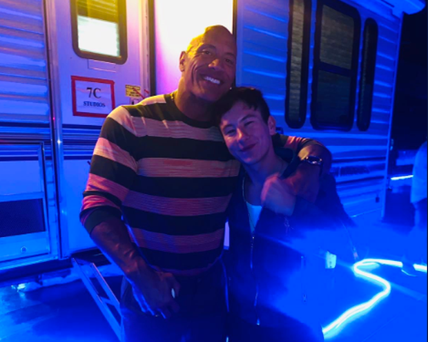 Dwayne 'The Rock' Johnson with Barry Keoghan