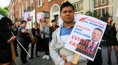 On the street: Protesters demand evictions are withdrawn for 50 families in South Richmond Street and Rosedale Terrace, Dublin