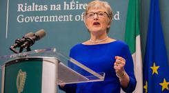 Katherine Zappone: The Children's Minister said it would be inappropriate for her to intervene in a Tusla probe. Photo: Gareth Chaney/Collins