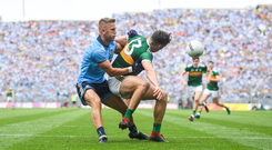 David Clifford of Kerry in action against Jonny Cooper of Dublin during the GAA Football All-Ireland Senior Championship Final match between Dublin and Kerry at Croke Park in Dublin. Photo by David Fitzgerald/Sportsfile